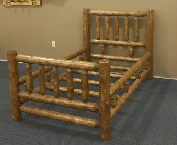 Twin Cedar Log Tradtional Bed