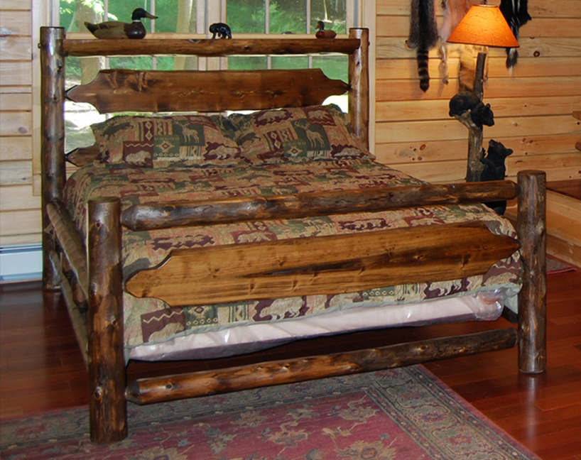 Queen Cedar Log Timber Ridge Bed