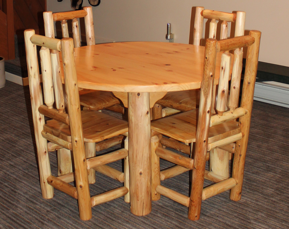 4′ Round Log Table & Chairs