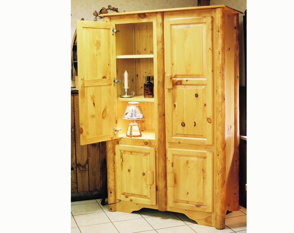 Cedar Log Armoire