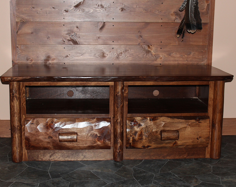 Cedar Log Entertainment Center