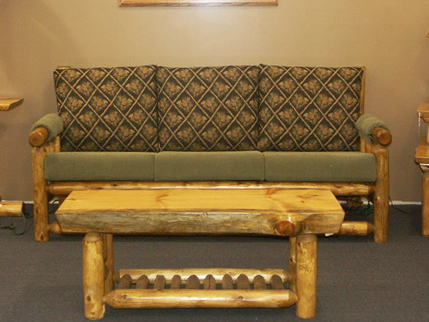 Cedar Log Sofa